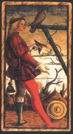 Jack of Coins from SOLA BUSCA alchemical tarot deck