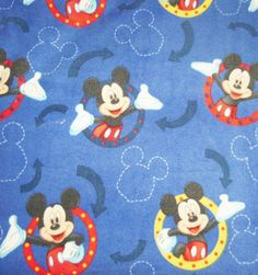 Disney Mickey Mouse Fleece Baby Blanket Blue Girl Boy Pet Lap Security Free  Shipping in USA by Scrunchiesbysherry on Etsy 6a7485b4e