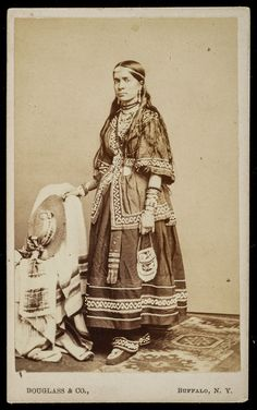 ORIG 1864 cdv of NATIVE AMERICAN woman IROQUOIS SENECA tribe Civil War TAX STAMP