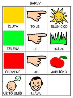 Básnička - Barvy Preschool, Playing Cards, Logos, Day Care, Autism, Preschools, Kid Garden, Playing Card Games, A Logo