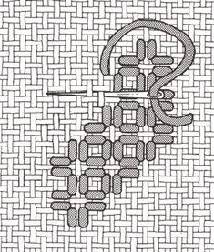 Satin Pairs Stitch : Hardanger - (nordicneedle.net)