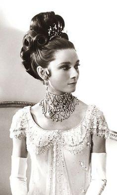 "Audrey Hepburn as Eliza Doolittle in the movie musical ""My Fair Lady"" ~ 1964."