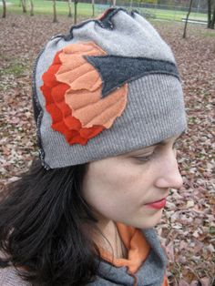 Upcycled cashmere hat