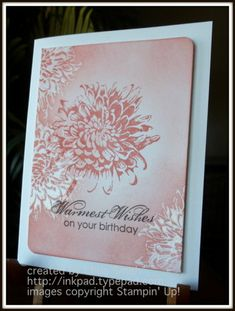 Blooming with Calypso Coral by inkpad - Cards and Paper Crafts at Splitcoaststampers