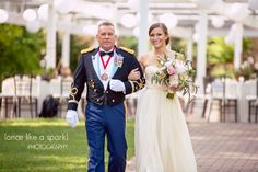 bride, father of the bride, wedding entry, walking down the aisle, wedding ceremony, candid photographs, gorgeous wedding, outdoor wedding, fredrick wedding, wedding photographer :: Abigail + Daniel's Wedding at Shade Trees and Evergreens in Frederick, MD :: with Kait