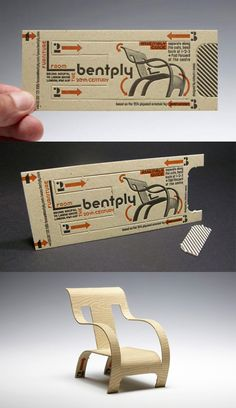 Clever 3D Letterpress Business Card Design