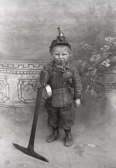 An 8 year-old coal miner in Utah or Colorado, USA, in the early 1900's