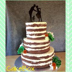Naked cake Event Planning, Cake Decorating, Wedding Cakes, Baking, Desserts, Naked, Events, Food, Wedding Gown Cakes