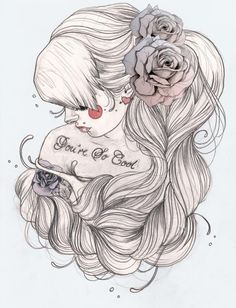 tattoo girl draw - Buscar con Google