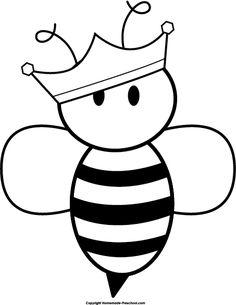 honey bee black and white clipart clipart kid preschool abcd rh pinterest com black and white bee clip art free black and white bee hive clip art