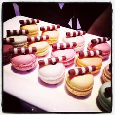 Pretty macaroons from @BRIDES on twitter