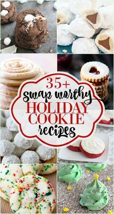 35+ #Holiday #Cookies perfect for cookie exchange parties and family gatherings. | Some of the BEST Christmas cookie recipes around! Don't miss this roundup. #cookie | www.dreamingofleaving.com
