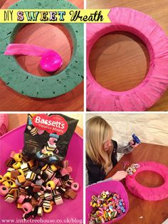 Image detail for -Sweet Candy Wreath DIY Tutorial for wedding or party decorations by In ...