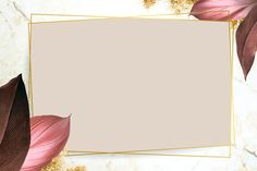 Rectangle foliage frame on white marble background vector | premium image by rawpixel.com / Adj Framed Wallpaper, Flower Background Wallpaper, Background Pictures, Flower Backgrounds, Red Background, Background Patterns, Wallpaper Backgrounds, Wallpapers, Instagram Png