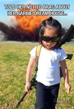 Little girl rage.