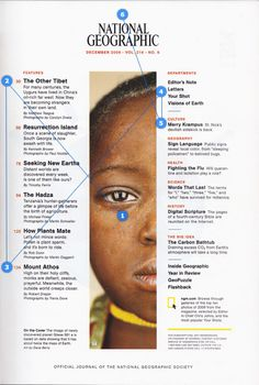 The Timeless Beauty of National Geographic - Retinart Editorial Layout, Editorial Design, Table Of Contents Design, Design Table, National Geographic, Mo Design, News Design, Magazine Contents, Content Page