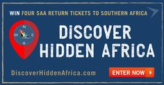 WIN 4 return flights to Southern Africa by entering our competition here: discoverhiddenafrica.com ✈ Competition closes midnight 12/08/15. A NEW image will be posted each WEDNESDAY for 3 weeks. ENTER ALL 3 WEEKS for a bigger chance of winning! National Airlines, New Image, 3 Weeks, South Africa, Wednesday, Competition, Southern