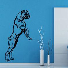 Wall Decals Boxer Dog Pets Animals Vinyl Sticker Murals Wall Decor KG519