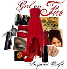 """Girl on Fire Inspired Outfit"" by superstarsrs on Polyvore"