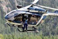 July 12, 2012. A French Gendarmerie helicopter takes off to continue the search for victims of an avalanche in Chamonix, in the French Alps.