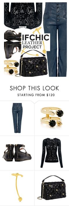 """""""IFCHIC - Leather Project!"""" by maranella ❤ liked on Polyvore featuring Marissa Webb, Joomi Lim, Boutique Moschino, McQ by Alexander McQueen, Maria Black, Leather, ifchic and leatherproject"""