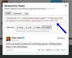 "Maak je blog levendig met ""embeddable tweets"": http://www.heuvelmarketing.com/inbound-marketing-blog/bid/69474/Maak-je-blog-levendig-met-embeddable-tweets #socialmedia #twitter #inboundmarketing"