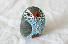 目線に釘付け!フクロウのオブジェ(青) - 鳥モチーフ雑貨・鳥グッズのセレクトショップ:鳥水木 #bird #torimizuki