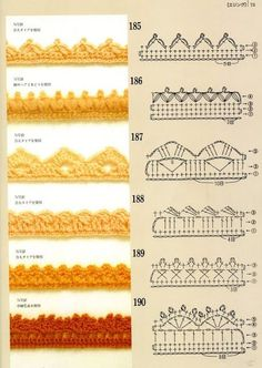 SOLO PUNTOS: Crochet Bordes …