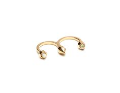 Double Finger Open Ring With Stud and Encased Elements Open Ring, Ss 15, Shop Now, Finger, City, Shopping, Accessories, Fashion, Moda