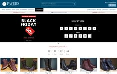 Black Friday homepage personalization with countdown timer by Pavers #BlackFriday #Homepage #Personalization #Countdowntimer #Ecommerce