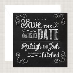 Save the Date Card from Printed Ink
