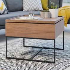 Brown Lift Top Coffee Table W Storage Computer Desk End