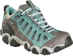 Oboz Women's Sawtooth Low BDry Hiking Shoes Mineral Blue 9