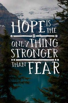 Hope is always stronger than fear #inspiration #quote http://www.healyourfacewithfood.com/