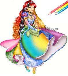 All the Disney princesses in one! Gorgeous artwork by Kristina Webb Art <<< Hey look! It's the next disney princess!)<<< not sure if its is cool or strange or both. Disney E Dreamworks, Disney Pixar, Disney Characters, Disney Fan Art, Fictional Characters, Disney Princess Drawings, Disney Drawings, Drawing Disney, Princess Cartoon