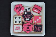 Cookie Gallery - Celebrate with Cake! Crazy Cookies, Fancy Cookies, Cute Cookies, How To Make Cookies, Holiday Cookies, Bunco Themes, Bunco Ideas, Party Ideas, Bunco Game