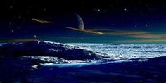 Saturn From Titan-Circa 1961 mural Space Saturn, Space And Astronomy, Outer Space Wallpaper, Murals Your Way, Big Moon, Man On The Moon, Out Of This World, Milky Way, Solar System