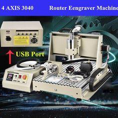 USB CNC3040T 4-axis Router 800W Engraving Cutting Engraver Machine+Handwheel RC