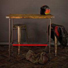 Pop Bar | Medium -Industrial pipe leg reclaimed wood table / breakfast bar by Arnhem Brown Workshop