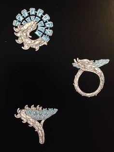 Van cleef & Arpels. Bague dragon ring sketch...♡