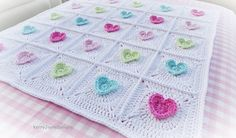 CROCHET BABY BLANKET PATTERN The All Heart Baby blanket by KerryJayneDesigns A great Valentines blanket!