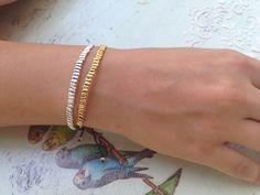 Handmade bracelets in gold/silver
