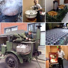 """Фан-кейтеринг - это не только еда но и можно сказать аттракцион. Так что накануне 23 февраля хватает работы по офисной Москве. Готовим """"солдатскую"""" кашу в полевой кухне. Варим походный компот. Угощаем пирожками. Наливаем боевые 30 гр. ну и поп-корн с сахарной ватой куда ж без них. Всё это - сегодня. Буквально - вести с полей.  #тимбилдинг #корпоративныемероприятия #корпоратив #организацияпраздников #организациямероприятий #teambuilding  #ивент #эвент #ивентагентство #ивенткомпания…"""