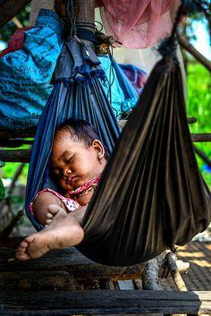Baby Hammock . Chongknis village, Cambodia