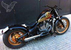 1995 vt600 bobber | free kustom cycles