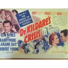 vintage movie poster- RARE- DR.KILDARE'S CRISES A4 SIZE