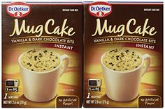 Traditional Dr. Oetker Mug Cake Vanilla & Dark Chocolate Bits Instant Cake Mix (2 Count Pkg)