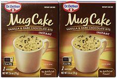 Authentic Dr. Oetker Mug Cake Vanilla & Dark Chocolate Bits Instant Cake Mix (2 Count Pkg)