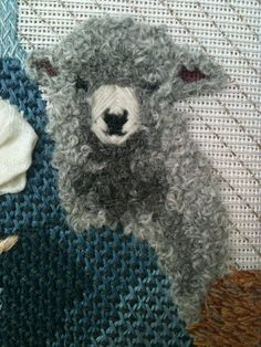 Love the loose wooly french knots (from steph's stitching: Nativity Set Day)