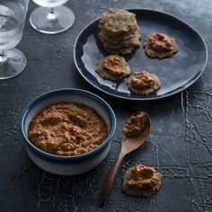 "Thermomix | Romesco dip | Entertaining with Dani Valent cookbook + recipe chip | ""Party"" menu plan |"